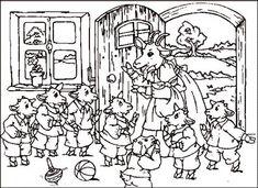 """Színező """"Wolf és a hét kis gyerekek"""" letöltés és a nyomtatási ingyen"""