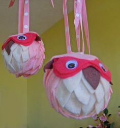 Site has link for how to make these felt owls