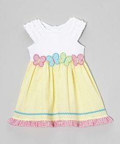 Yellow Gingham Butterfly Dress - Toddler & Girls