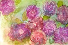 Garden Art Print Flower Art Work Pink by ThresholdPaperArt on Etsy