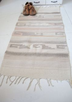Bohemian southwestern rug tribal pattern in weave by campwilder