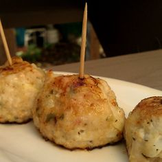 """Chicken-Apple Meatballs with Honey and Sage. You can flatten them and serve them as a breakfast """"sausage"""" patty"""