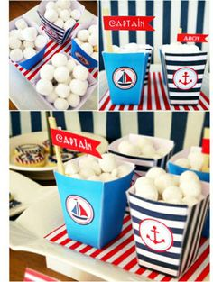 Nautical Party Candy Boxes
