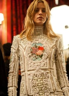 Balmain : Pearl Embellished Dress
