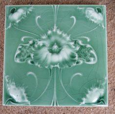 """Original  English  Art Nouveau tile , c1905/7 6""""x6""""Tile 868 in Antiques, Architectural Antiques, Tiles   eBay!"""