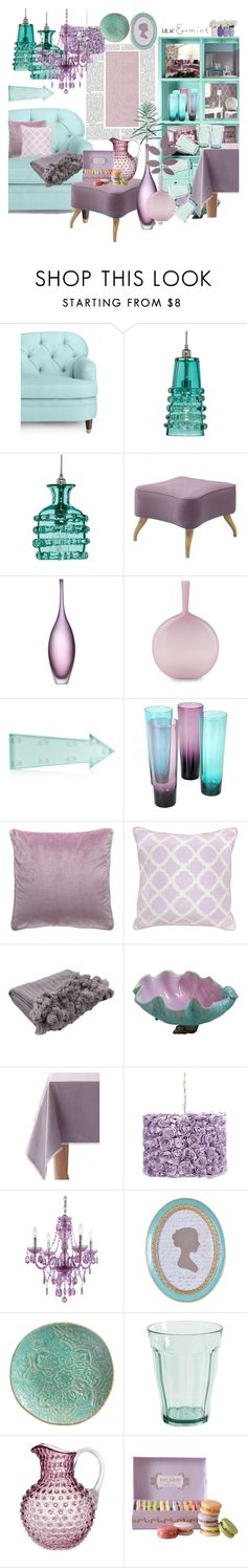 """Lilac&Mint"" by marionmeyer ❤ liked on Polyvore featuring interior, interiors, interior design, home, home decor, interior decorating, Kate Spade, Jamie Young, Gubi and CHI"