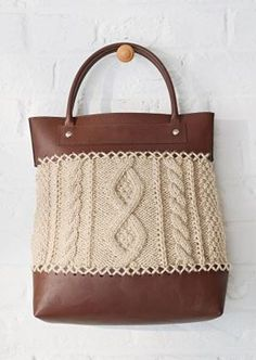 Leather Effect Bag Kit - Marron