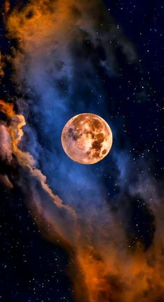 Full moon nestled in clouds and stars -- beautiful! Moon Moon, Moon Art, Moon Beauty, Shoot The Moon, Moon Magic, Beautiful Moon, Beautiful Images, Moon Goddess, Stars And Moon