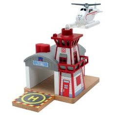 gift ideas: Thomas And Friends Wooden Railway - Harold's Helipad Wooden Train, Thomas The Tank, Search And Rescue, Thomas And Friends, Battery Operated, Disney Art, Hot Wheels, Games, Toys
