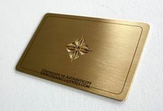 Original business cards realized on brass. A new material. These business cards are laser engraved and laser cutted. Info: material: brass thickness: 0,5 mm size: this is 8,5 x 5,5 cm rounded corners