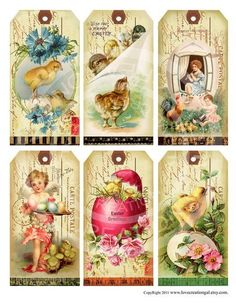 Ephemeras vintage garden free printable easter children hang items similar to vintage postcards easter bunnies chick children illustration hanging ornaments tea party gift tags digital collage cards sheet images on negle Choice Image