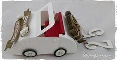 Hochzeitsauto Stampin up! Auto Up Auto, Stampinup, Wooden Toys, Car, Design, Autos, Packaging, Automobile, Wood Toys