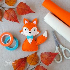 Felt Fox with Simon Says Stamp plush dies. Project by Wanda Guess!
