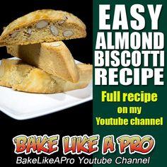 EASY ALMOND BISCOTTI RECIPE ►►► CLICK PICTURE for video recipe