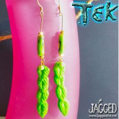 Greens-Earrings-by-Tek-Metal-and-Polymer-Beads-Earth-Planet-Nature