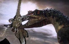 Spinosaurus fishes for prey - Planet Dinosaur - BBC (+lista de reproducc...