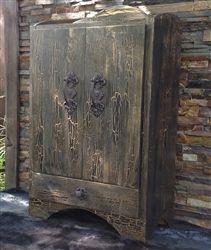 armoire 2 portes en bois de manguier et fer lilian prix promo vente unique 449 99 ttc au lieu. Black Bedroom Furniture Sets. Home Design Ideas