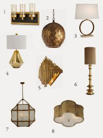 greige: interior design ideas and inspiration for the transitional home : Currently: Brass lighting