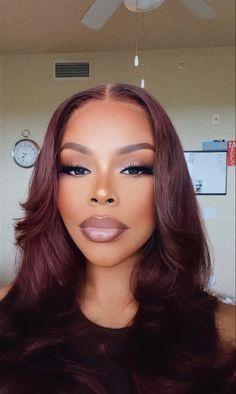 Baddie Hairstyles, Weave Hairstyles, Black Girls Hairstyles, Straight Hairstyles, Curly Hair Styles, Natural Hair Styles, Natural Hair With Color, Dyed Natural Hair, Hair Laid