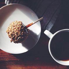 Breakfast of champions.  @uofortworth #breakfast #caramelapple #coffee #urbanoutfitters #Padgram
