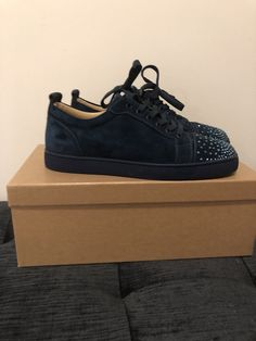 new styles ad598 c0a1b Christian Louboutin Blue Spikes Size (US. Sonya Hey · Casual Shoes