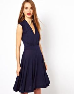 French Connection Jersey Skater Dress at ASOS