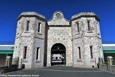 Fremantle Prison gatehouse (medieval style) by Edmund Hendersen, Fremantle Australia