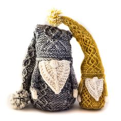 Here We Gnome Again ... Meet Gnancy and Gneville, They're 100% Knittable!