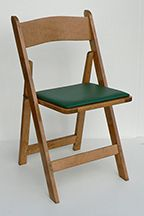 Kestell Furniture, Pecan with green vinyl seat