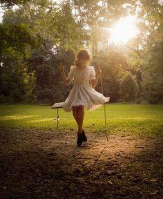 Twirly dress and swing :)