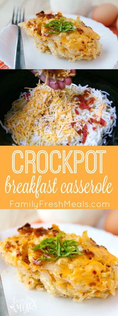 Crockpot Breakfast Casserole Recipe. Love this recipe for the holidays or for company! Great for lazy weekends and easy to make!