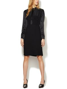 DEREK LAM - Silk Crepe Button Front Dress