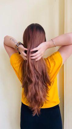 Hairdo For Long Hair, Long Hair Video, Easy Hairstyles For Long Hair, Modern Hairstyles, Bride Hairstyles, Hair Style Vedio, South Indian Bride Hairstyle, Triangle Hair, Front Hair Styles