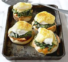 Spinach & smoked salmon egg muffins recipe - Recipes - BBC Good Food