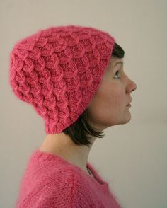 """Knit """"Waffle"""" Hat with circular and double point needles"""