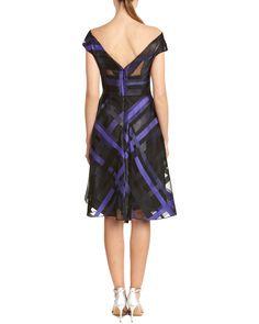 Rue La La — Lela Rose Silk-Lined A-Line Dress