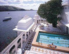 Island resort: The iconic Taj Lake Palace was the setting for 007's 1983 adventure Octopussy