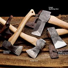 Wetterling Swedish Hand Forged Axes-  Garrett Wade's tool porn is the best- we always drool over the catalog, doesn't matter what the tool is :)