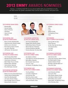 Printable Emmy Ballot!