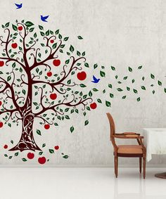 Take a look at this Brown & Dark Green Apple Tree Wall Decal by DecorDesigns on #zulily today!