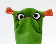 Meckerkopf #Handpuppe #mood #monster von ehrtweibchen