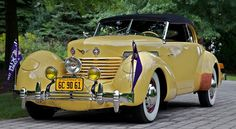 The 1937 Cord 812 once owned by Tom Mix, the 1930s cowboy movie star. The actor was killed at the wheel of the supercharged Cord in October 1940; the car was repaired after the crash and restored in 2010. Beyond its repute as a so-called death car, Mix's Cord has distinctive custom features, including an external-mount spare tire.