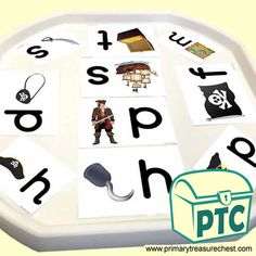 Pirate Resources - Talk like a Pirate Day teaching resources - Primary Treasure Chest Letter Sound Activities, Number Activities, Pirate Day, Pirate Theme, Teaching Resources, Teaching Ideas, Play Number, Ourselves Topic, Tuff Tray
