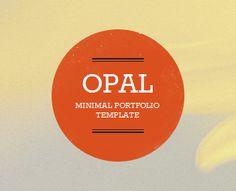 Opal - Minimal Portfolio Template by QuanticaLabs (via Creattica)