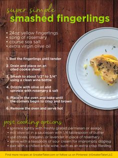 From our own kitchens: Super Simple Smashed Fingerlings with five super-quick ways to dress it up. Fingerling Potatoes, Potato Side Dishes, Dinner Sides, Super Simple, Potato Recipes, Grilling, Kitchens, Beef, Baking