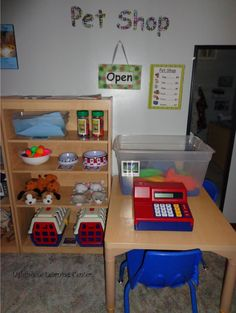 Learning Center: Our Pet Shop.... This is so cute!