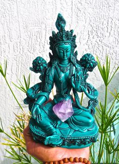 Green Tara Goddess Of Enlightenment by BenitoArvizo on Etsy, $79.00 this is beautiful!
