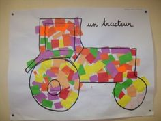 idem & tracteur & Related posts: No related posts. Spring Art Projects, Farm Unit, Transportation Theme, Petite Section, Engin, Head Start, Pre School, Nursery Art, Activities For Kids