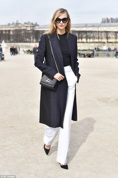 A fashion favourite: Karlie Kloss arrives at Elie Saab Fashion Show during Paris Fashion W...