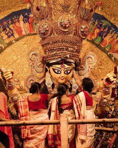 Durga Maa Paintings, Durga Painting, Kali Goddess, Goddess Art, Shiva Art, Krishna Art, Bengali Culture, Mother Kali, Maa Durga Image